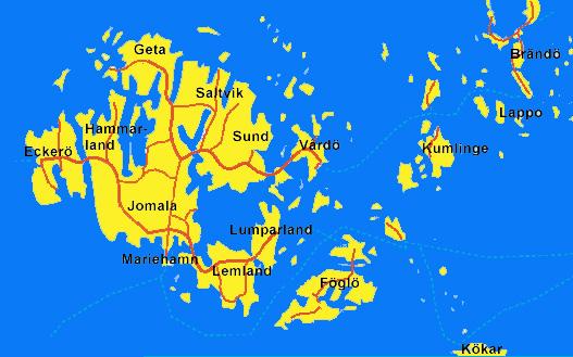 Übersichtkarte Aland-Inseln