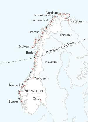 Kirkenes-Bergen-Postschiffkreuzfahrt